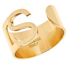 Bellezza Bronze Initial Cuff Ring