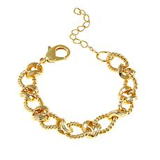"Bellezza  Bronze Mixed-Texture Rope-Link 7"" Bracelet"