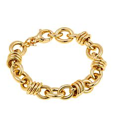 Bellezza Bronze Oval and Multi Rolo Link Bracelet