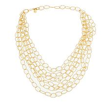 "Bellezza Bronze Textured Oval-Link 6-Strand 19"" Necklace"