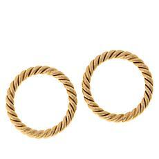 Bellezza Bronze Torchon Circle Earrings