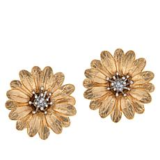 Bellezza Gold-Plated Sterling Silver Two-Tone Daisy Stud Earrings