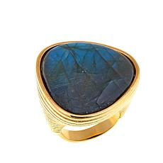 Bellezza Labradorite Bronze Ring
