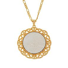 Bellezza Special Edition 500 Lira Coin Bronze Scroll Pendant
