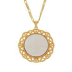Bellezza Special Edition 500 Lira Coin Bronze Scroll Pendant