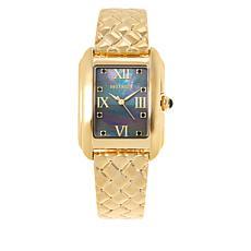 Bellezza Women's Braided Semi-Bangle Bracelet Watch