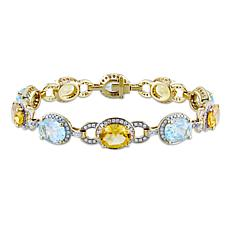 Bellini 14K Gold Citrine and Blue Topaz Diamond-Accented Bracelet