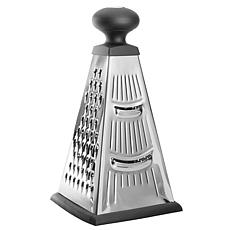 """BergHOFF Essentials 10"""" Stainless Steel 4-Sided Pyramid Grater"""