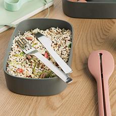 BergHOFF Leo Collection 3-piece 2 qt. Dual Bento Box Set - Gray & Mint