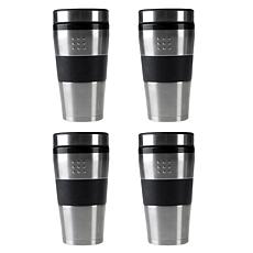 BergHOFF® Orion 4-piece 16 oz. Stainless Steel Travel Mug Set