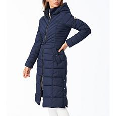 Bernardo EcoPlume Maxi Coat with Snap Vent