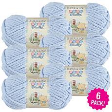 Bernat Baby Blanket Yarn 6-pack - Baby Blue