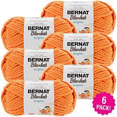 Bernat Blanket Brights Yarn 6-pack - Carrot Orange