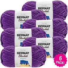 Bernat Blanket Brights Yarn 6-pack - Pow Purple