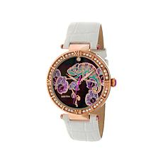 Bertha Camilla Mother-of-Pearl Dial Leather Watch