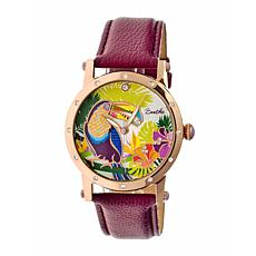 Bertha Gisele Mother-of-Pearl Dial Leather Strap Watch