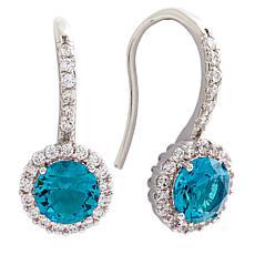 Bertha Juliet Collection Cubic Zirconia Halo Earrings