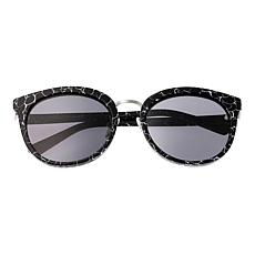 Bertha Lucy Polarized Sunglasses with Black Marble Frame