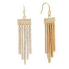Bertha Sophia Collection CZ Fringe Drop Earrings