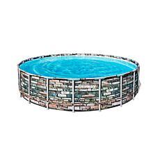 Bestway Power Steel 20-ft Round Above Ground Pool Set
