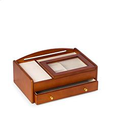 Bey-Berk Cherry Wood Valet Box