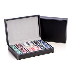Bey-Berk Poker Set with Leather Case