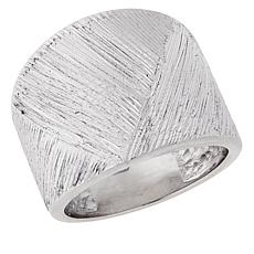 Bianca Milano Sterling Silver Basketweave Ring