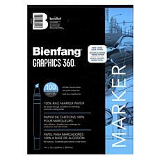 Bienfang Graphics 360 100% Rag Translucent Marker Paper 9x12 100-Pack