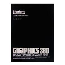 "Bienfang Graphics 360 Translucent Marker Paper 14"" x 17"" - 100 Sheets"