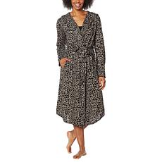 Billy T Animal-Print Hooded Lounge Wrap Robe/Topper