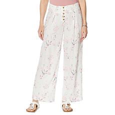 Billy T Coastal Blooms High-Waist Wide-Leg Pant