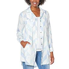 Billy T Geometrics Chambray Midi Shirtdress