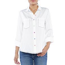 Billy T Roll-Tab Sleeve Sweet Shirt