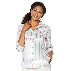 Billy T Summer Blues Button-Down Striped Shirt