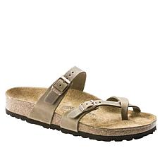 Birkenstock Mayari Leather Toe-Loop Comfort Sandal