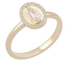 BlesT Gold-Plated Sterling Silver Virgin Mary Oval Ring