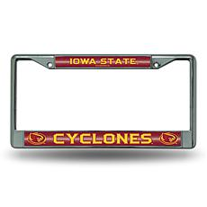 """Bling"" License Plate Frame - Iowa State University"