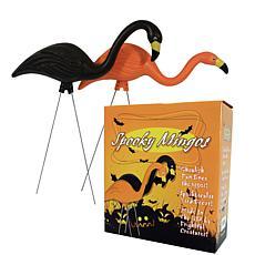 Bloem 2-Pack Spooky Halloween Flamingo Lawn Statues