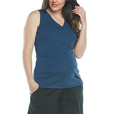 Blooming Women Crossover Maternity & Nursing Tank 2-pack, Navy/White