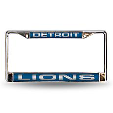 Blue Chrome License Plate Frame - Detroit Lions