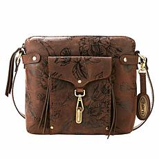 Born® Dormont Black Floral Print Leather Crossbody