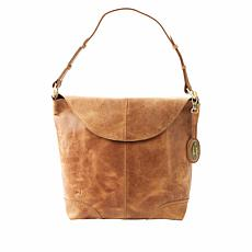 Born® Elaina Distressed Leather Hobo Bag