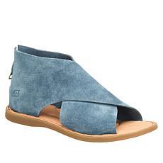 Born® Iwa Leather Back Zip Sandal