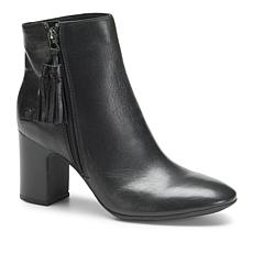 Born® Michie Leather Block Heel Bootie