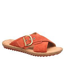 Born Rio Leather Buckled Slide Sandal