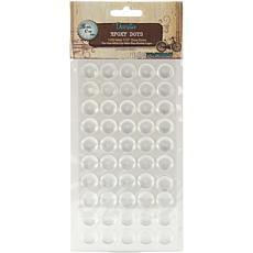 Bottle Cap Inc. Vintage Collection Clear Epoxy Dot Stickers