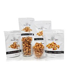 Brandini 6 oz. 4-pack Cashew and Chocolate Almond Toffee Popcorn
