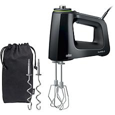 Braun MultiMix 5 Hand Mixer in Black with MultiWhisks and Dough Hoo...