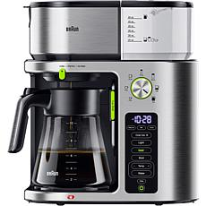 Braun MultiServe 10-Cup SCA Stainless Steel Coffee Maker w/Water Spout