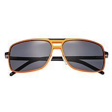 Breed Retrograde Aluminium Polarized Sunglasses with Orange Frame
